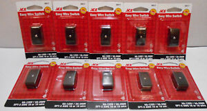 Lot of 10 Black / Brown Wire Cord Lamp Switches for 16 or 18 Gauge SPT-2 6A-125V