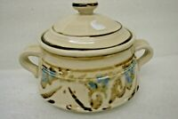 VINTAGE HAND MADE COVERED CERAMIC SERVING BOWL WITH LID USA 915
