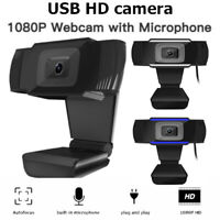 HD Webcam  Built-In Microphone USB for Computer PC Live Online Video Web Camera