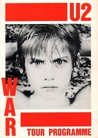 U2 1983 WAR TOUR CONCERT POSTER PROGRAM BOOK / BONO / THE EDGE / EX 2 NMT