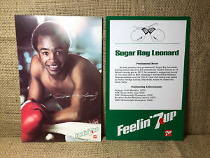 "Wholesale Lot Of 25 1981 SUGAR RAY LEONARD Boxing Cards 7-Up NM/MT 5.5""x8.5"""