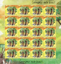 More details for croatia 2018 mnh protect forests childrens stamp 20v m/s trees nature stamps