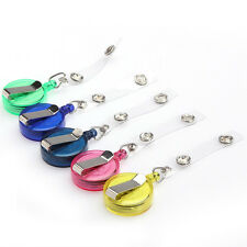 LOT 5 PCS Clip Retractable Reel ID Badge Holder Key Chain Reels Color mixed