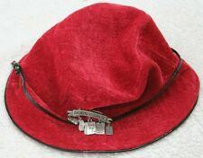 Nine West Red Black Bucket Hat Born To Shop Silver Gray Pin Women's Woman's Cap