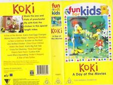 ABC FOR KIDS KOKI A DAY AT THE MOVIES VHS VIDEO PAL~ A RARE FIND~