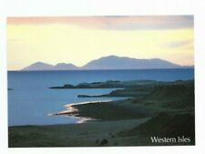 Harris : The Harris Mountains, from Dunvegan  - a summer sunset