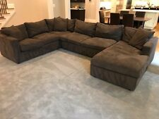 room and board sectional sofa ultra suede