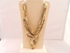 Collier Halskette Whiting & Davis Vintage, Kettentuch, Goldfarbe