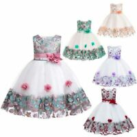 Princess bridesmaid party dress flower tutu dresses kid girl formal wedding baby