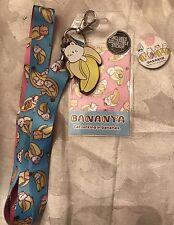 Bananya Cat Banana Badge Holder Lanyard Collectible Stickers & Button Pin