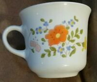 1 MINT CONDITION Corning Ware Corelle White glass Wildflower Coffee Tea Cup Mug
