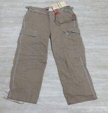 NEW Da-Nang Surplus Women's Capris Pants Beige/ WOOD Pockets DPS534 Size X-SMALL