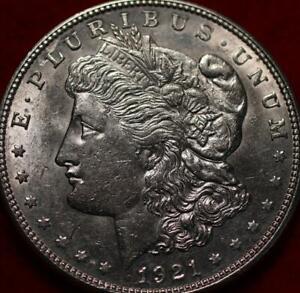 Uncirculated 1921-D Denver Mint Silver Morgan Dollar