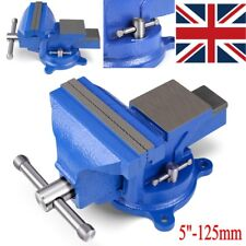 "5"" 125mm Work Bench Vice Vise Workshop Clamp Engineer Jaw Swivel Base Heavy Duty"