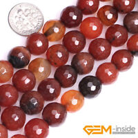 """Natural Dream Lace Agate Gemstone Faceted Round Beads For Jewelry Making 15"""" YB"""