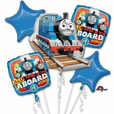 Thomas Tank Engine All Aboard Foil Balloons Bouquet Birthday Party Decoration ~5