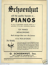 1948 PAPER AD Schoenhut Toy Play Pianos Philadelphia Weathervane Logo