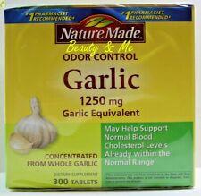 Nature Made Odor Control Garlic 1250mg, 300 Tablets