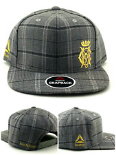UFC Reebok New RBK MMA Gray Conor Mcgregor Plaid Fighter's Era Snapback Hat Cap