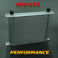 Universal 30 ROW AN10 Aluminum Engine Transmission Oil Cooler Mocal Style Silver