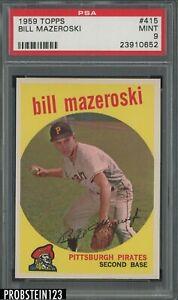 1959 Topps #415 Bill Mazeroski Pittsburgh Pirates HOF PSA 9 MINT