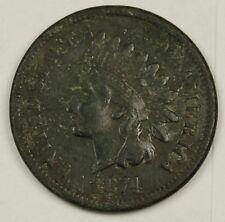 1874 Indian Head Cent.  V.F. Detail.  128210