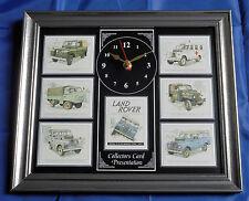Land Rover Series II & IIA Stunning Collector Cards Wall Clock