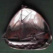 c1900 WMF Art Nouveau Dutch Sailor Girl Yacht Card Tray