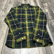 Fred Perry Multicolor Plaid Button Front Long Sleeve Shirt Size Slim Fit XS