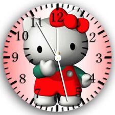 Hello Kitty Frameless Borderless Wall Clock Nice For Gifts or Decor Z54