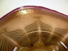 tolle  irisierende Glasschale  - signiert Eisch 2002 - Jugendstildekor