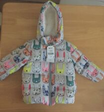 NEXT baby girl 🐰 print shower resistant jacket age 12-18 Months