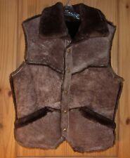 Caribou Clothes Vintage Sheepskin Vest, Men's XL