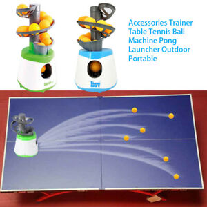 Portables Trainer Table Tennis Ball Machine Pong Launcher Outdoor-Use Balls