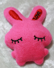 Doll size plushie plush bunny rabbit cute stuffed animal Bjd Dollfie toy Pink