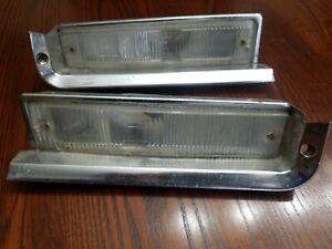 1 Pair 1960 Plymouth Front Parking -Signal Light Assembles W/ Lenses 60 MOPAR