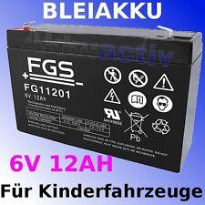 FGS Batteria al piombo 6V/12Ah per Auto per bambini