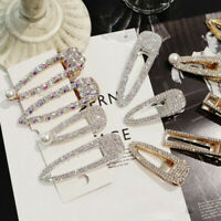 Hot Fashion Girls Crystal Hair Clip Barrette Hairpin Bobby Hair Accessories
