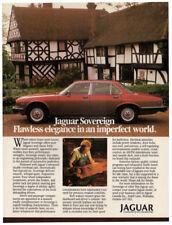 1986 JAGUAR Sovereign Vintage Original Print AD - Red car photo English Canada