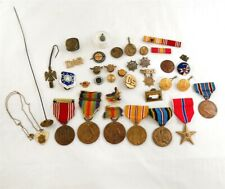 Lot of Wwi to Post Wwii Us Military Medals, Pins, Buttons, More