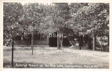 C95/ Hackensack Minnesota Mn RPPC Postcard 1936 Dulury's Resort Ten Mile Lake