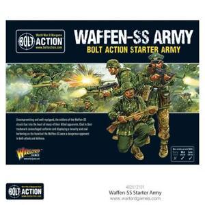 WAFFEN SS STARTER ARMY - GERMAN BOLT ACTION - WARLORD GAMES - SENT FIRST CLASS