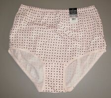VANITY FAIR~M 6~15319~Pink & Brown Perfectly Yours Classic 100% Cotton Brief