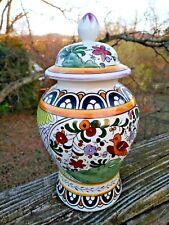 Antique Chinese Ginger Jar PEACE DOVE Talavera Pottery UNIQUE & RARE ❤️ ts17j