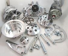 BB Chevy BBC Complete LWP Aluminum Pulley Kit W/ Alternator, Power Steering Pump