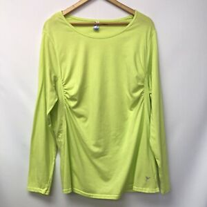 Active By Old Navy Womens Size 2X Top Yellow Ruched