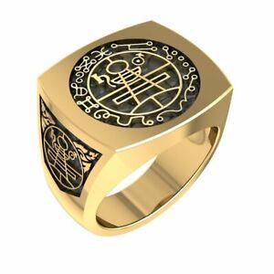 Secret Seal of Solomon Ring Brass Jewelry Size 6-15 BR-17