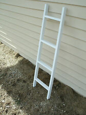 "42"" wooden whitewashed ladder, wooden ladder, blanket ladder, display ladder"