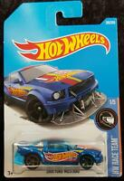 HOT WHEELS 2005 FORD MUSTANG HW RACE TEAM - BLUE with RED YELLOW STRIPES - NEW