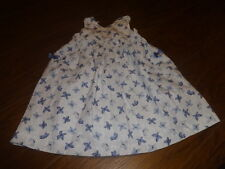 BOUTIQUE TARTINE ET CHOCOLAT 2 2T GORGEOUS BLUE BUTTERFLY DRESS